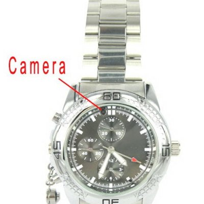 5.0 MP Pinhole Camera Watch with CMOS Sensor - 4GB Memory